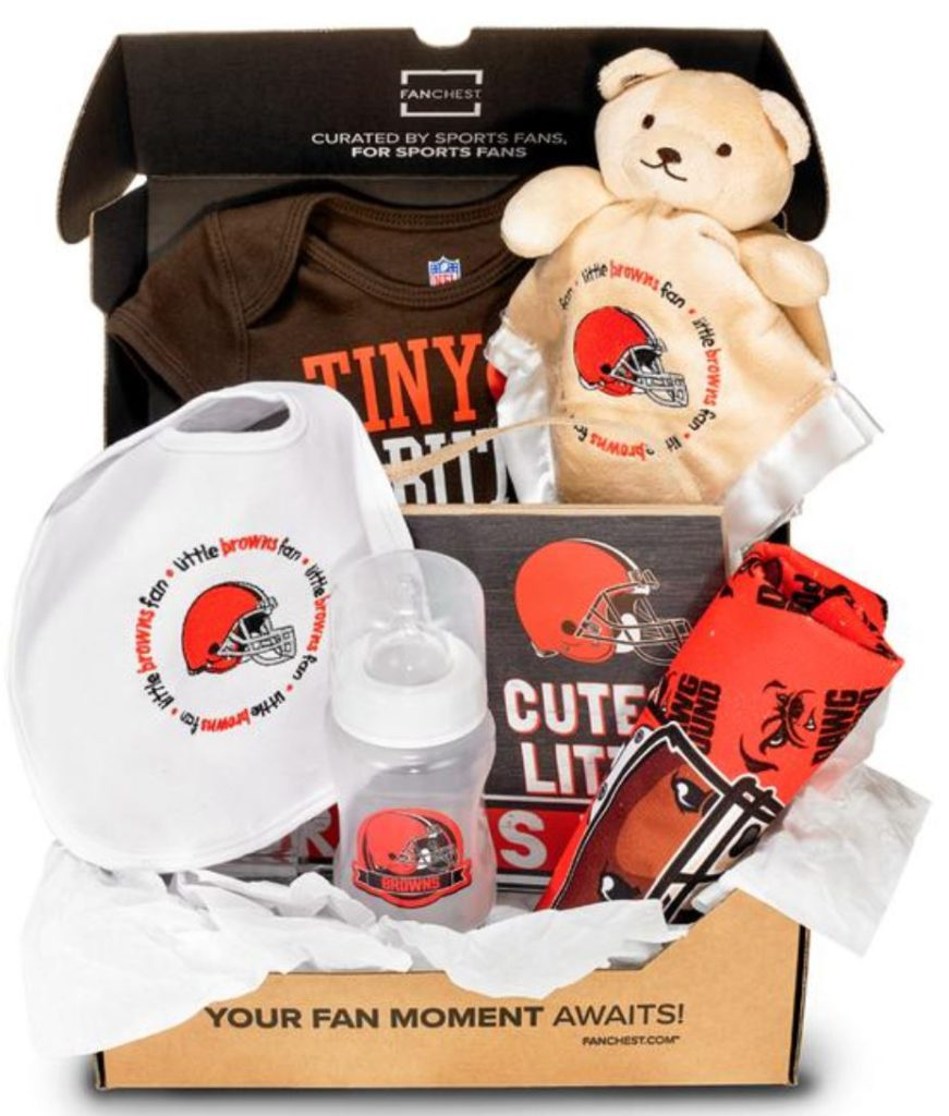 cleveland browns baby gift set