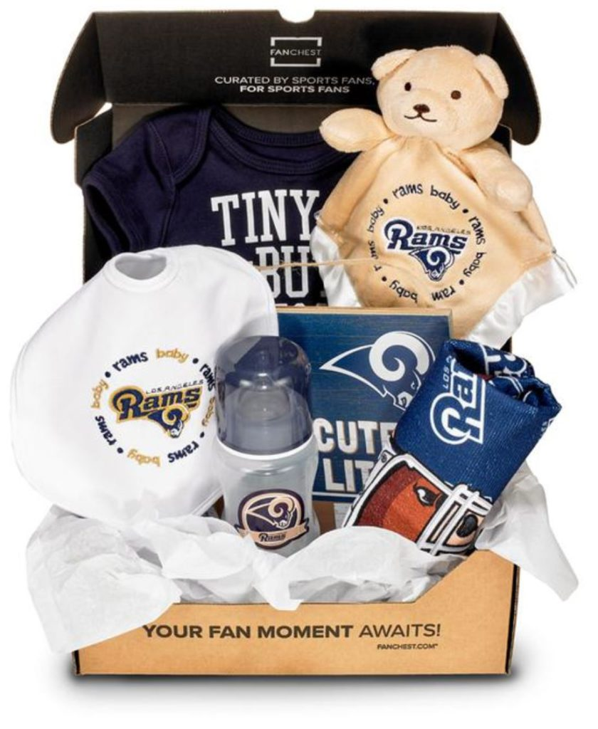 los angeles rams baby gift set