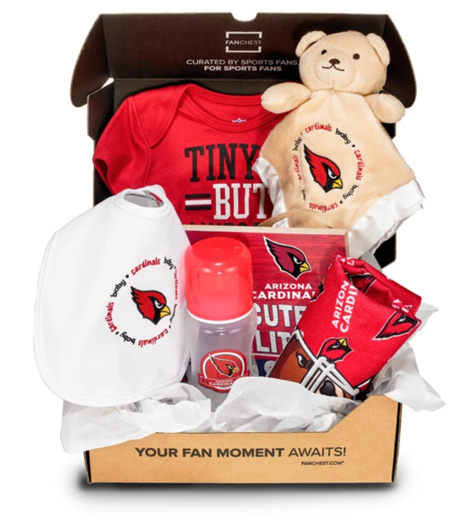 arizona cardinals baby gift sets