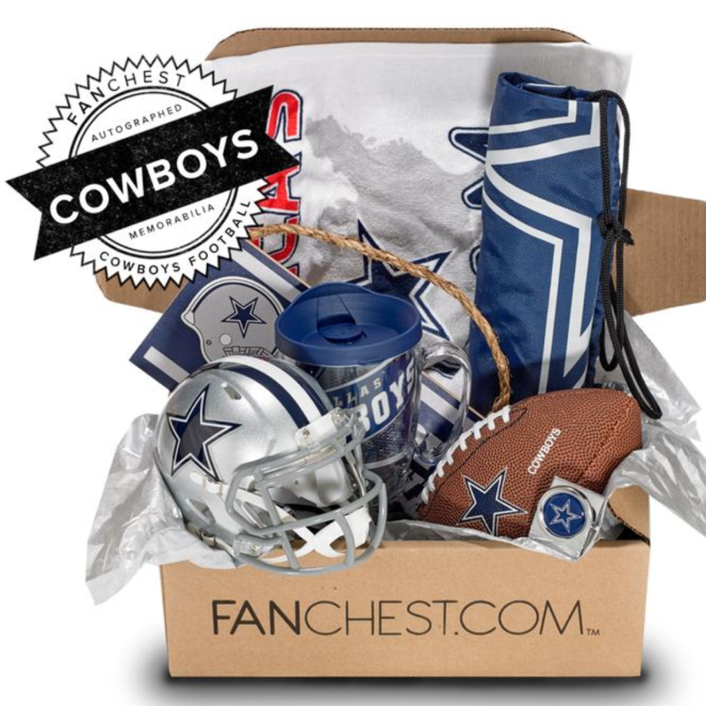 dallas cowboys signed memorabilia gift set
