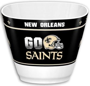 new orleans saints snack bowl for man cave