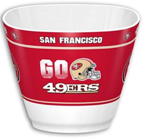 san francisco 49ers snack bowl man cave