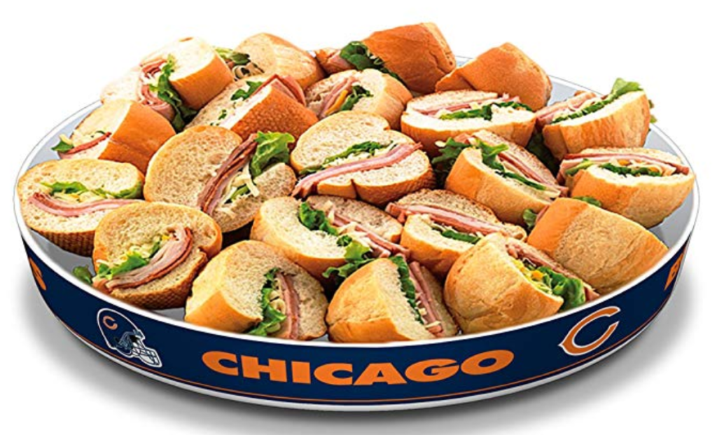 Chicago Bears Party Platter Football Snack Bowls